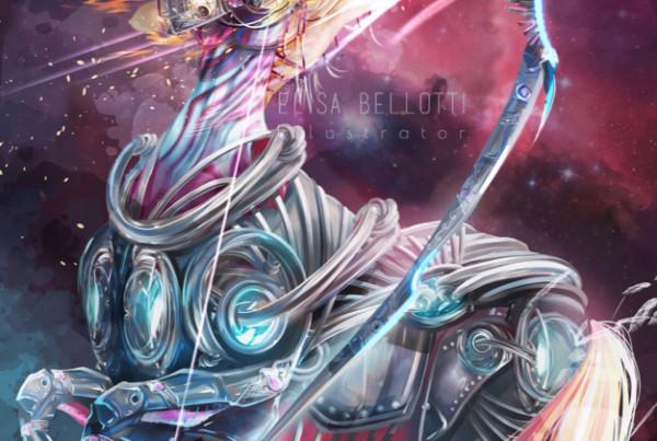 Sagittarius-Cyber zodiac-elisa bellotti illustrator-wp