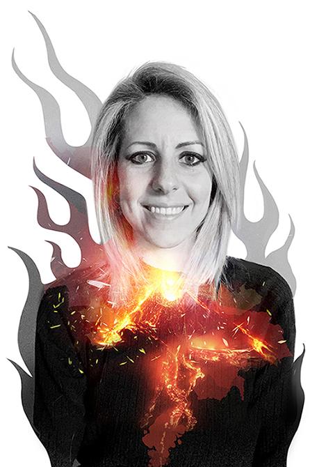 ELISA BELLOTTI ILLUSTRATOR VULCANO fire