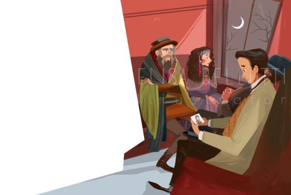 Dracula - Le più belle storie del brivido - Feltrinelli - Gribaudo - Elisa Bellotti illustrator, Concept, Visual and Comics Artist