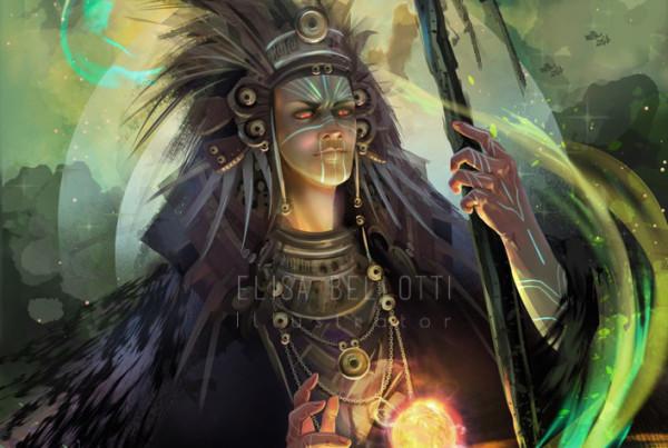 Tloque Nahuaque-divinità azteca-elisa bellotti illustrator-wp1