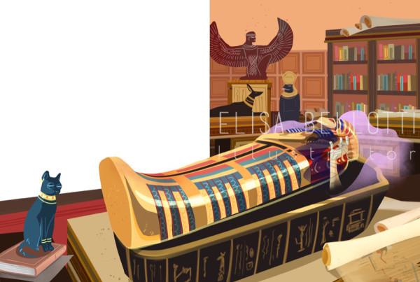 La mummia - Le più belle storie del brivido - Feltrinelli - Gribaudo - Elisa Bellotti illustrator, Concept, Visual and Comics Artist