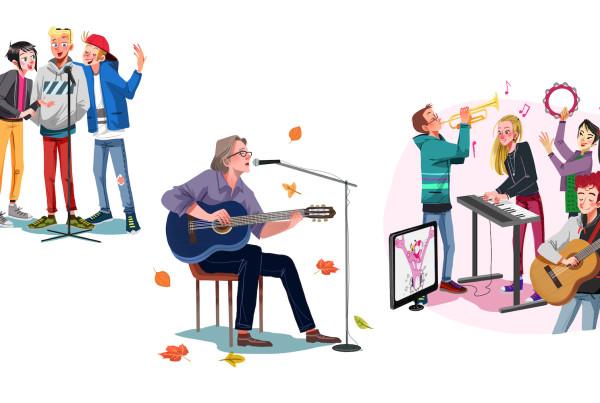 Impulse- volume di musica in tedesco - Helbling languages Elisa libri di scolastica,illustratrice di scolastica, Illustratrice di scuola