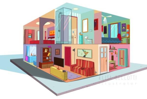 Sezione casa-elisa bellotti illustrator