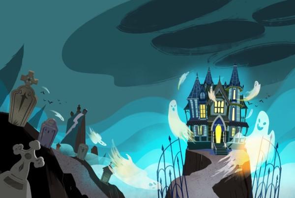 Le più terrificanti storie di fantasmi - Gribaudo - Storie di fantasmi, libri di paura per ragazzi. Libri per Halloween. Storie di paura. Spiriti, fantasmi e case stregate. Illustrato da Elisa Bellotti